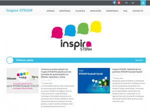 """Screenshot of the """"Inspira STEAM"""" website https://inspirasteam.net/"""