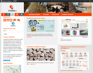 Screenshot of the STEAMcat website https://projectes.xtec.cat/steamcat/